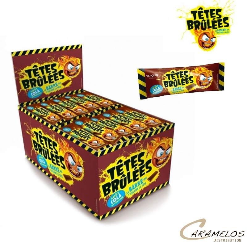 TETES BRULEES BARRES COLA X150 (1500g) au tarif pro