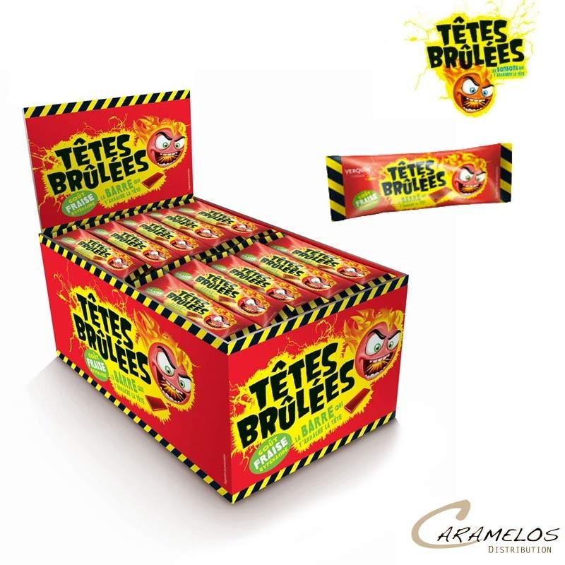 TETES BRULEES BARRES FRAISE X150 (1500g) au tarif pro