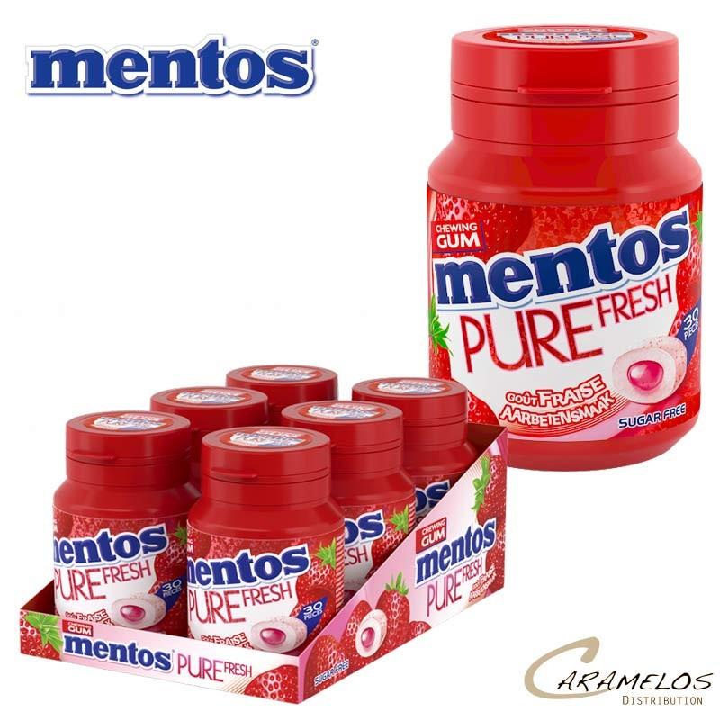 MENTOS BOTTLE  fraise  PURE FRESH 30D au tarif pro