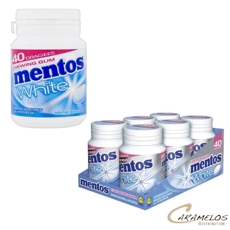 MENTOS BOTTLE WHITE MENTHE DOUCE 40 DG au tarif pro