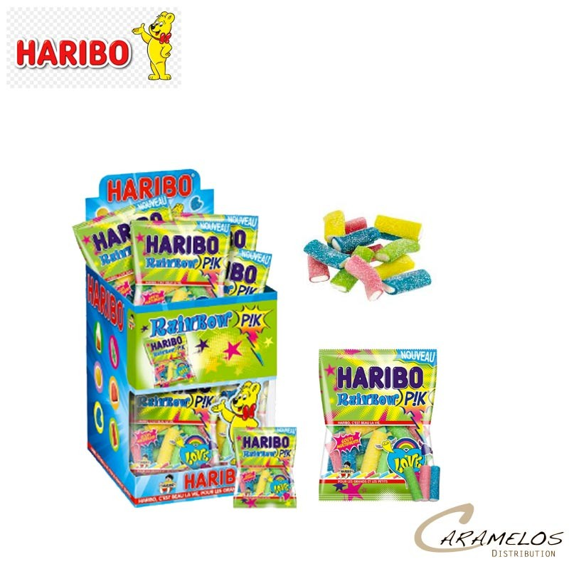 30 RAINBOW PIK MINI SACHETS HARIBO au tarif pro
