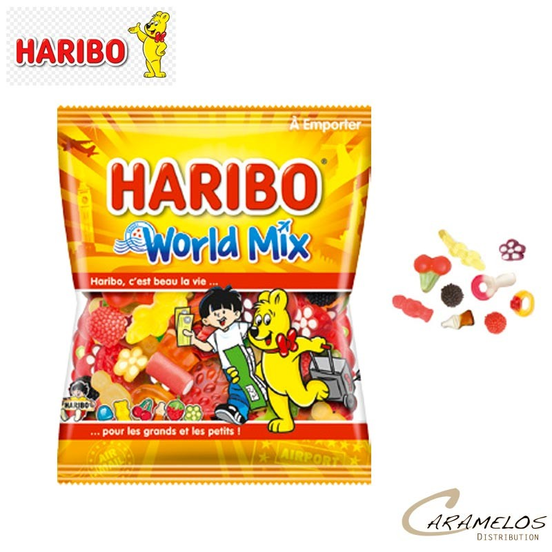 WORLD MIX 120 G  HARIBO au tarif pro
