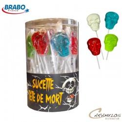 SUCETTE TETES DE MORT X40  BRABO au tarif pro