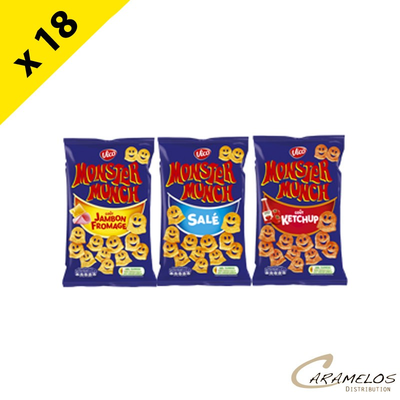 MONSTER MUNCH CARTON PANACHE 18 X 85G