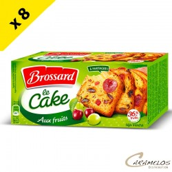 CAKE AUX FRUITS 300G BROSSARD X8