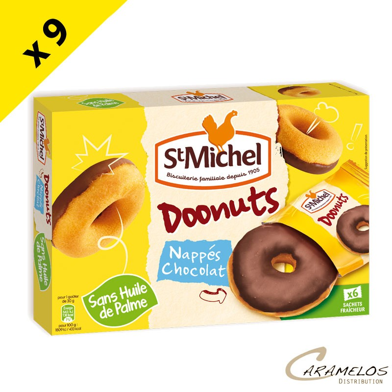 DOONUTS NAPPES CHOCOLAT 180G ST MICHEL