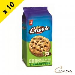 GRANOLA EXTRA COOKIE NOISETTES 184 G X10