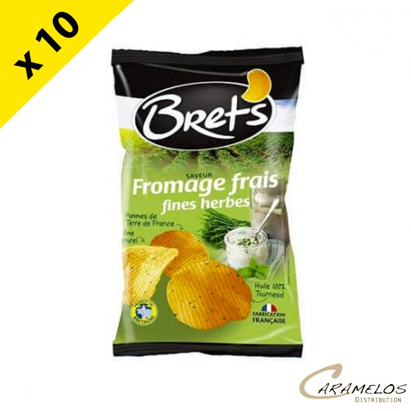 CHIPS BRET'S FROMAGE HERBES 125 G