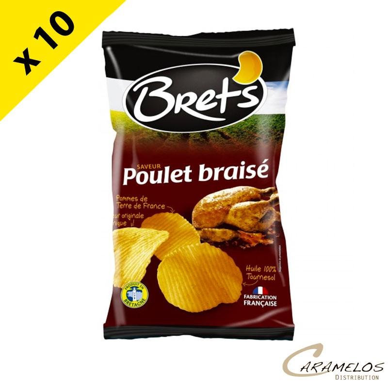 CHIPS BRET'S  poulet braise  125 G