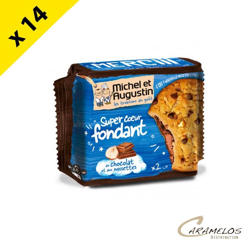 COOKIE COEUR FONDANT CHOCOLAT NOIS.  60G