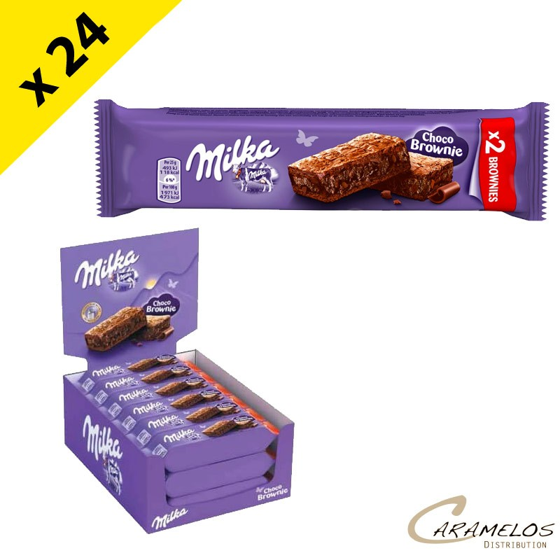 MILKA BROWNIES POCKET 50GR  X24