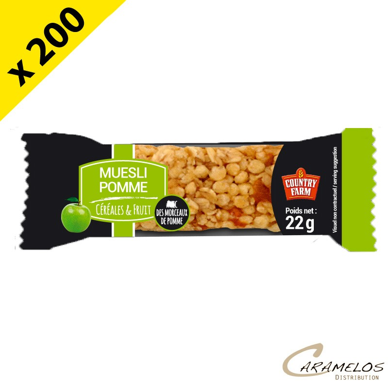 BARRE MUESLI POMMES COUNTRY FARM 22GR
