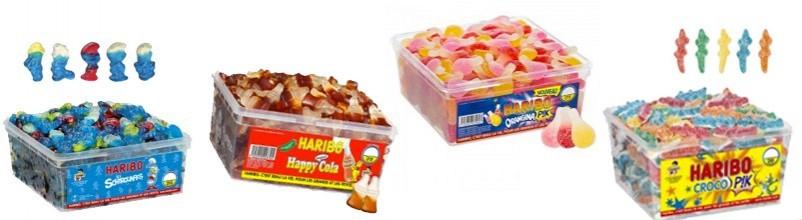Vente en ligne aux professionnels de bonbons à la pièce